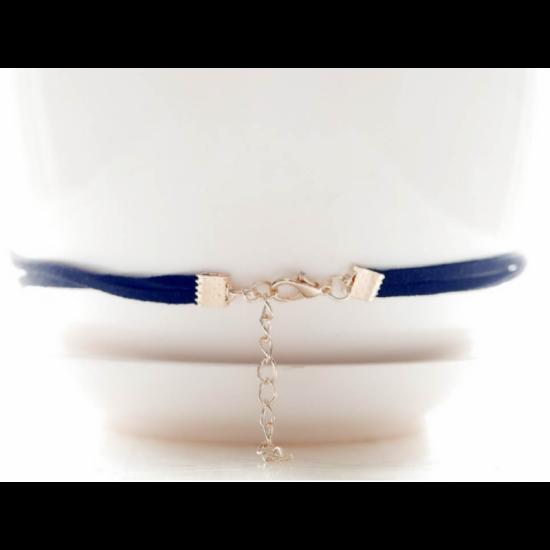 New Fashion Romantic Lace Pendant Retro Necklace-Black image