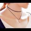 Simple Snowflake Pendant Black Retro Necklace image