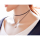 Simple Snowflake Pendant Retro Necklace-Black image