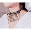 Women Handmade Ornament Style Lace Necklace N-17BK image