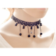 Women New Fashion Retro Lace Necklace-Black image