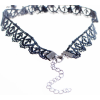Women Fashion Retro Black color Lace Necklace image