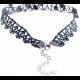 Women New Fashion Retro Lace Necklace-Black image