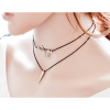 Women Simple Multi Layer Wind Retro Black Necklace image