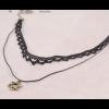 Double Layer Hexagram Lace Boutique Black Necklace image