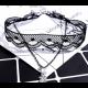 Women Fashion Letter Alphabet Pendant Sell Hot Necklace-Black image