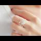 Woman Fashion Lotus Fresh Flower Ring-Silver image