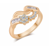18K Gold Zircon Women Fashion Golden Color Ring image