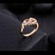 18K Gold Zircon Women Fashion Ring-Golden image