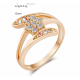 Zirconium Crystals New Fashion Palm Gold Plated Rings-Gold image