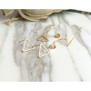 Woman Fashion Golden Triangle Star Female Earrings image