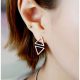 Woman Fashion Triangle Star Female Earrings-Silver image