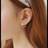 Woman Fashion Gold Star Style Luxury Diamond Earrings image
