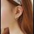 Woman Fashion Gold Star Style Luxury Diamond Earrings