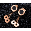 Roman Fashion Numeral Tassel Rose Gold Earrings For Women image