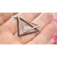 Woman Fashion Double Triangular Braided Zircon Earrings-Silver image