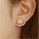 Woman Fashion Small Daisy Flowers Gold Earrings image