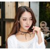 Lovely Tie Bow Women Fashion Pearl Wild Black Color Necklace image