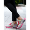 Grey Pink Color Breathable Joggers Walk Sports Shoes For Women image