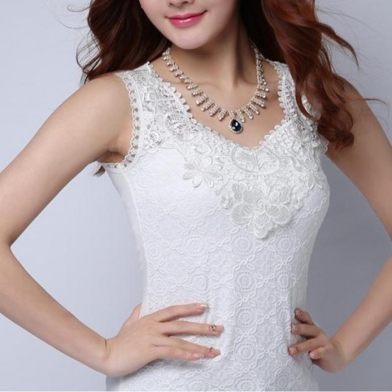 Summer Elegant Short Sleeved Pleated Slim Party Dress-White image