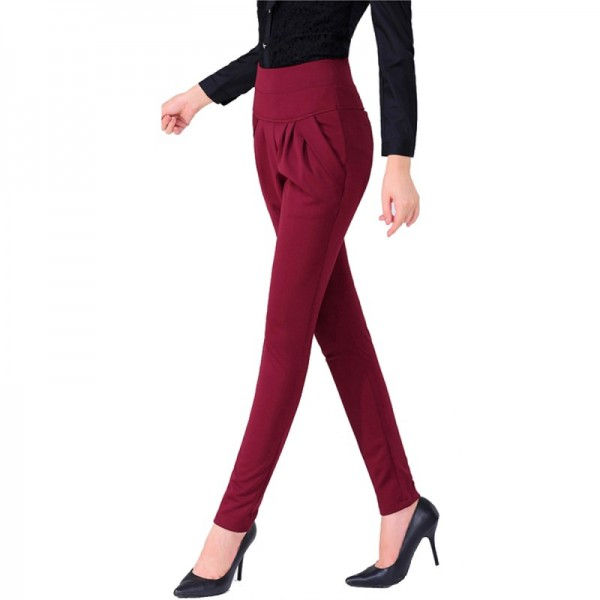 Spring and Autumn Red Real Shot Casual Harem Pants Trousers image