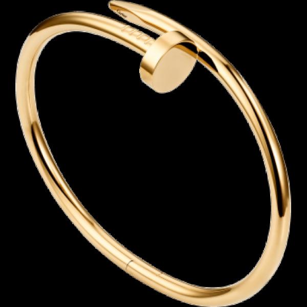 Nail Style Gold Colored Titanium Steel Women Bracelet image