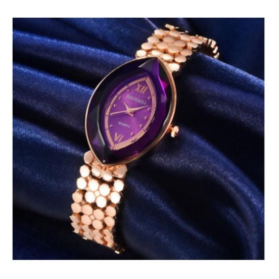 Quartz Oval Eye Shape Elegant Women Choice Watch-Rose Gold image