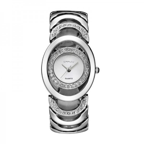 Elegant Steel Belt Diamond Ladies Silver Color Bracelet Watch image