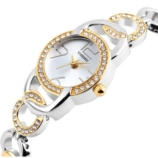 Authentic Silver Dial Steel Stripes Bracelet Ladies Watch-Silver image