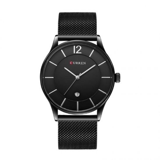 Casual Men Fashion Curren Watch-Black image