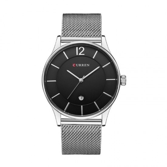 Casual Men Fashion Curren Watch-Silver image
