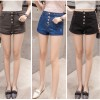 Elastic Jeans Skirt Sexy Looked Girl Summer Denim Grey Shorts image