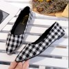 Ladies Summer section Tip Shallow mouth Square Fashion Black Shoes image