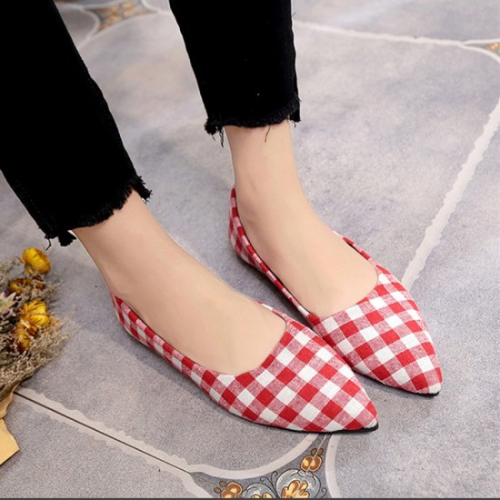Ladies Summer New Shallow mouth Square Fashion Shoes-Red image