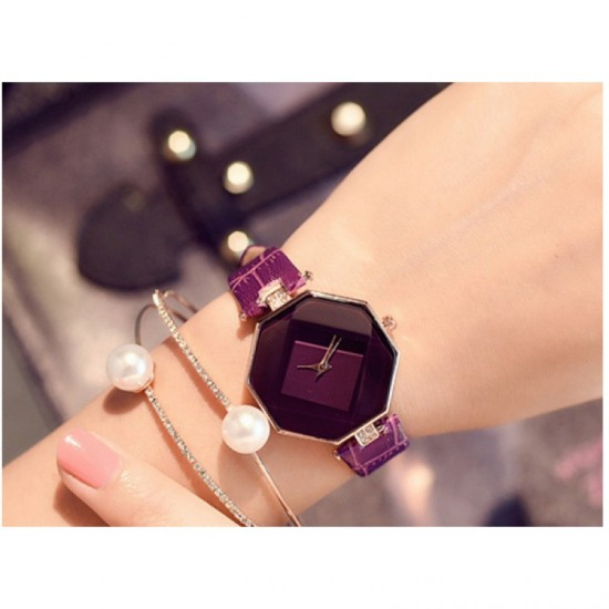 Teen Girls Fashion Temperament Watch-Purple image