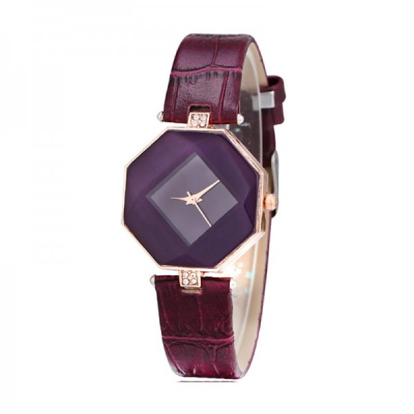 Teen Girls Fashion Temperament Purple Color Watch image
