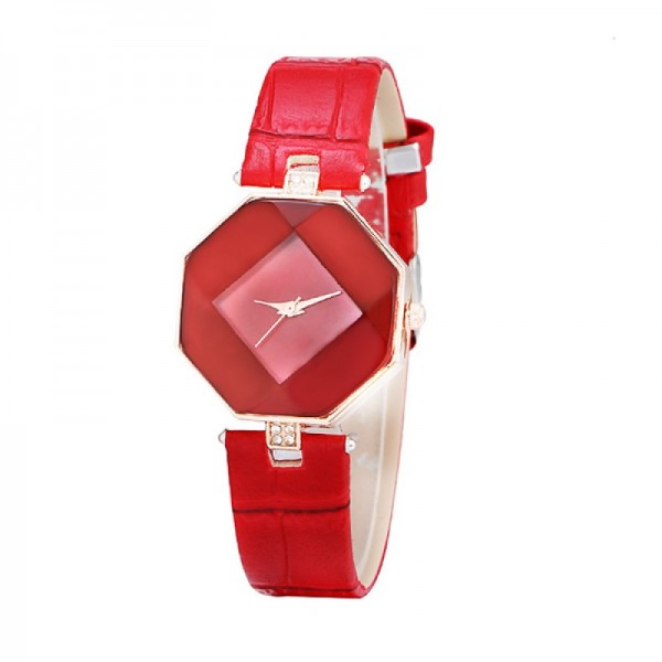 Teen Girls Fashion Temperament Red Color Watch image