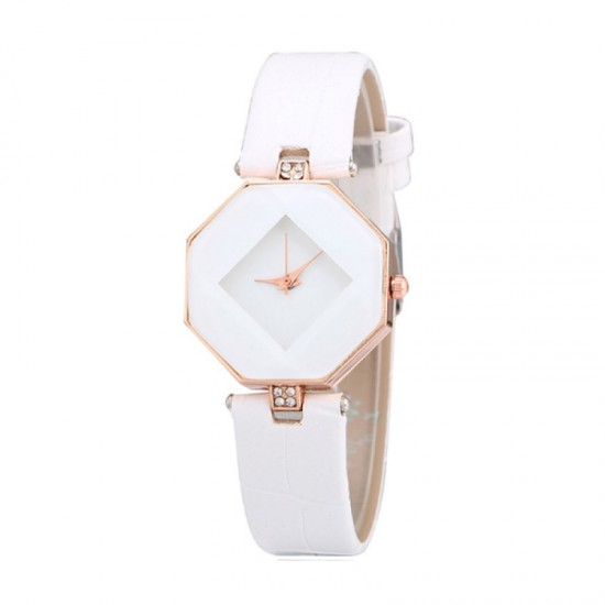 Teen Girls Fashion Temperament White Color Watch image