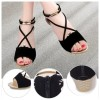 Black Comfortable Strap Solid Low-heeled Sandals image