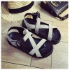 Summer Fashion Light Weight Thick Muffin Buckle Grey Sandals image