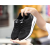 Women Laces Up Rubber Sole Breathable Running , Jogging Sports Shoes-Black