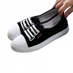 Black Flat Bottom Canvas Lovely Sneakers
