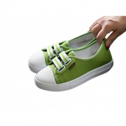 Green Flat Bottom Canvas Lovely Sneakers