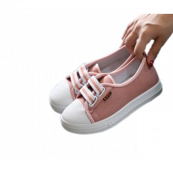 Pink Flat Bottom Canvas Lovely Sneakers