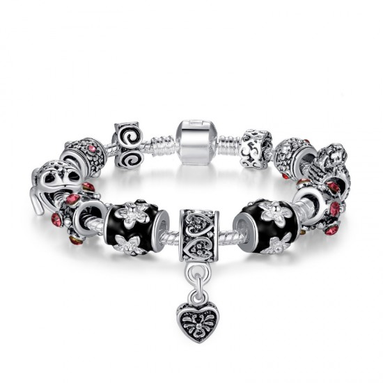 Women Silver Plated Rhyme Charm Personality Alloy Bracelet image