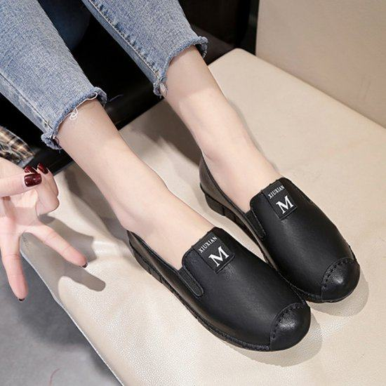Soft Casual Loose Work Shoes For Women-Black image