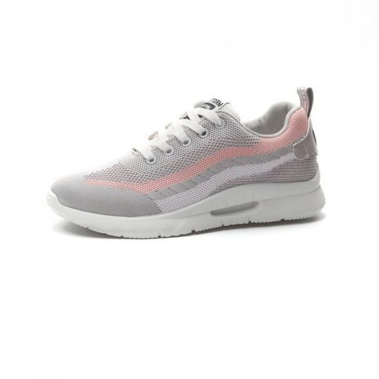 Elegant Sports Running Shoes With Pink Stripe for Women-Grey image
