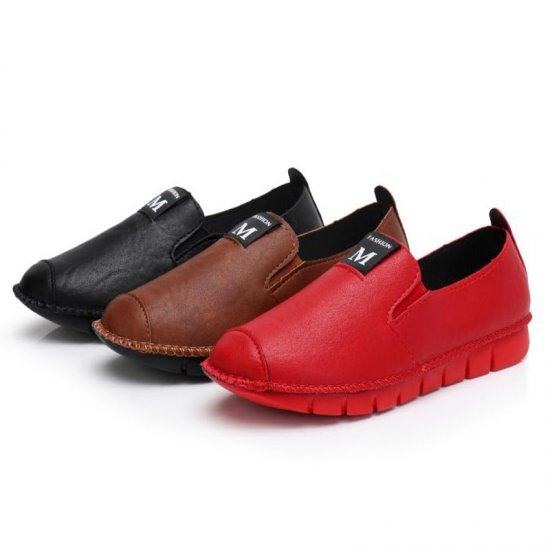Soft Casual Loose Work Shoes For Women-Red image