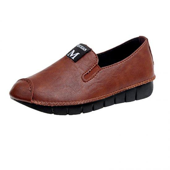 Soft Casual Loose Work Shoes For Women-Brown image