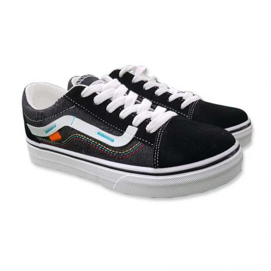 Famous new female casual Canvas Shoes-Black image